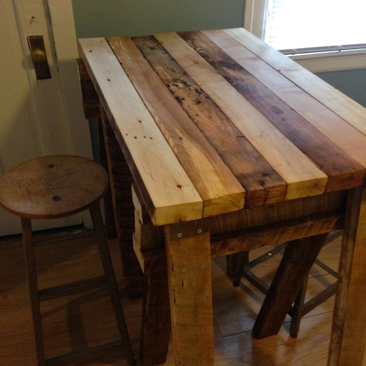 Reclaimed wood kitchen island top DIY