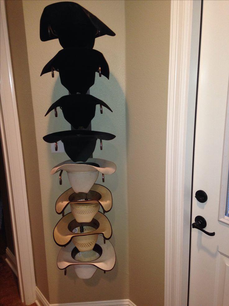 Cowboy hat rack home ideas pinterest for Diy door hat rack