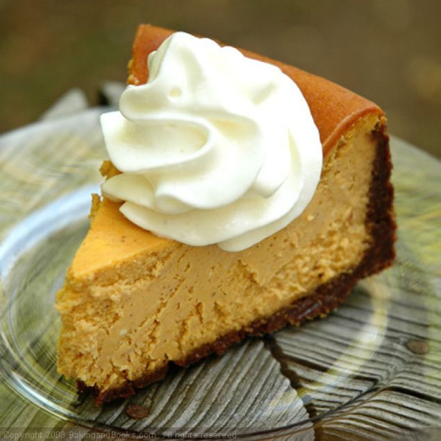 Pumpkin Cheesecake ~ This is a lightened up version of The Cheesecake ...