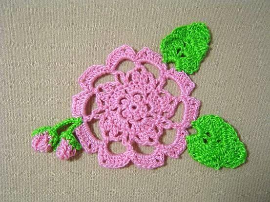 桜のモチーフ(ドイリー・編み図付き) : Crochet a little