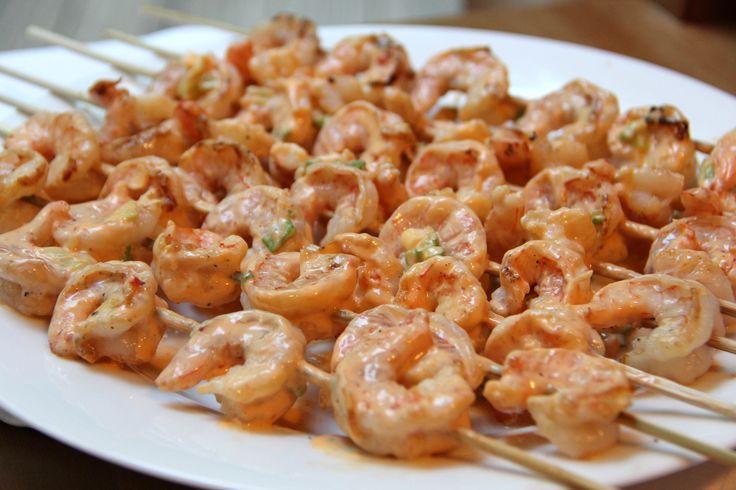 Skinnytaste Bangin' Shrimp Skewers | Feastie