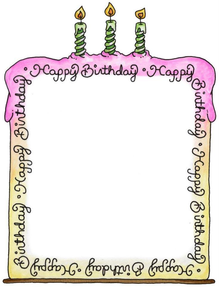 Birthday Cake Tag | Printables | Pinterest