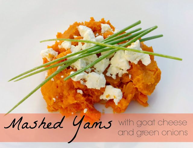 Domestic Bliss Squared: Mashed yams with goat cheese and green onions ...