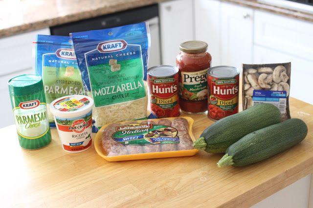 Mel's Italian Sausage Zucchini Lasagna | European, Greek, Italian, Me ...