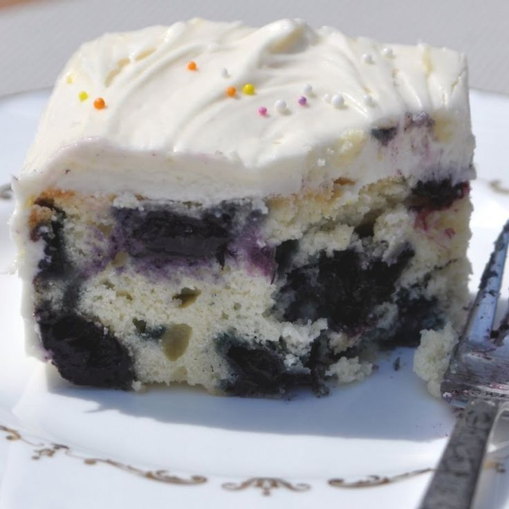 Blueberry Tea Cake Recipe from Grandmothers Kitchen.