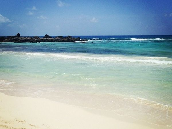Beach day in Cozumel, Mexico.