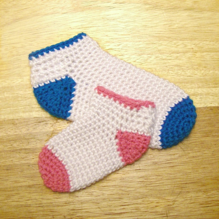 FREE CROCHET PATTERN: EASY: Baby - Toddler Socks