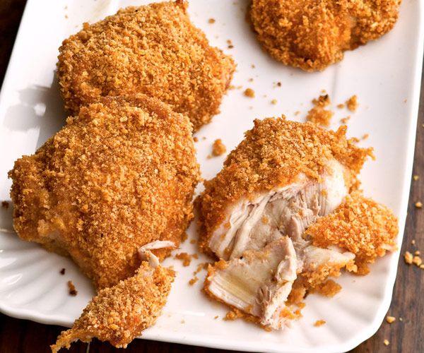 Honey-Crisp Oven-Fried Chicken (Fine Cooking). Excellent! I marinated ...
