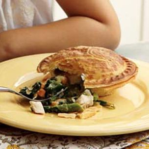 Chicken and Spring Vegetable Potpies | Food | Pinterest