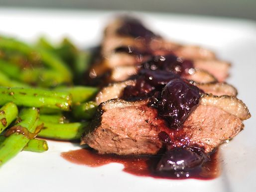 Peppered Duck Breasts with Cherry-Port Sauce | Recipe