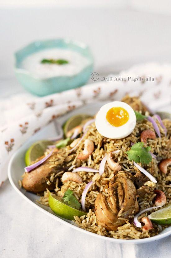 Chicken Biryani - chicken, cilantro, mint, ginger, garlic paste, cumin ...