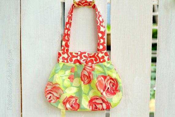Amy Butler Fabric Purse/Bag by PotatoBlossomStudio
