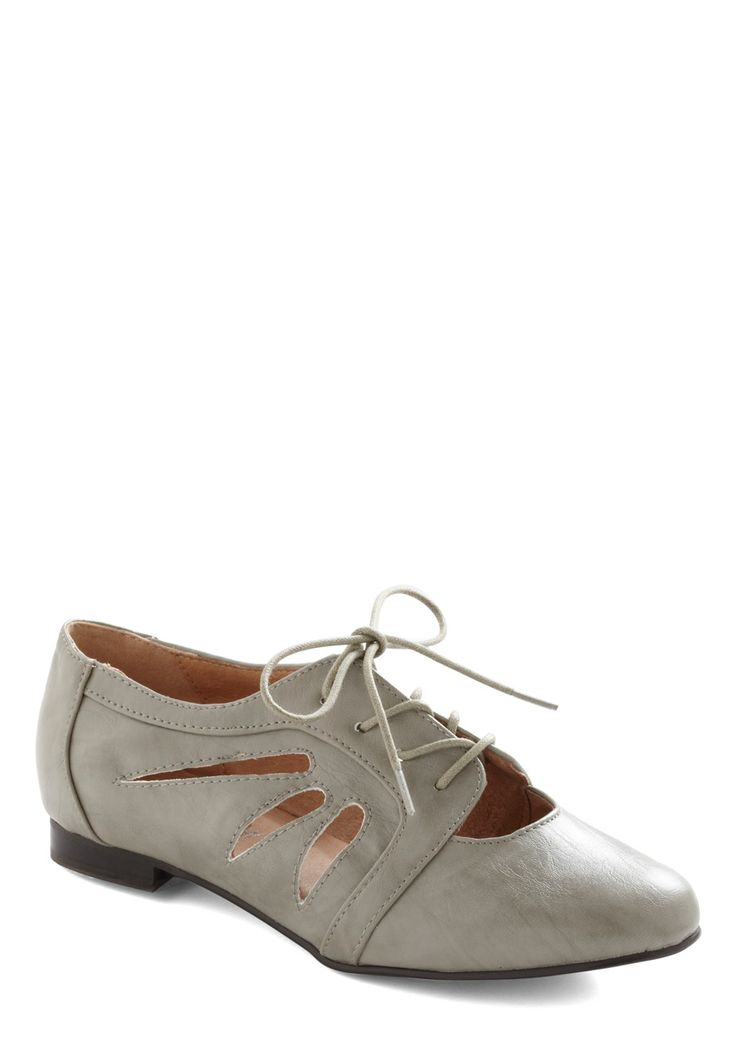 grey cut out oxfords