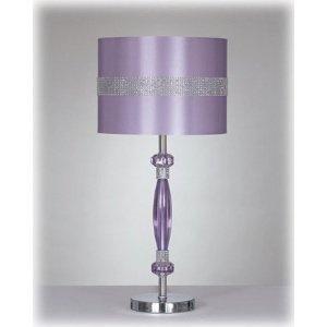 Purple amp silver table lamp w drum shade purple freak pinterest