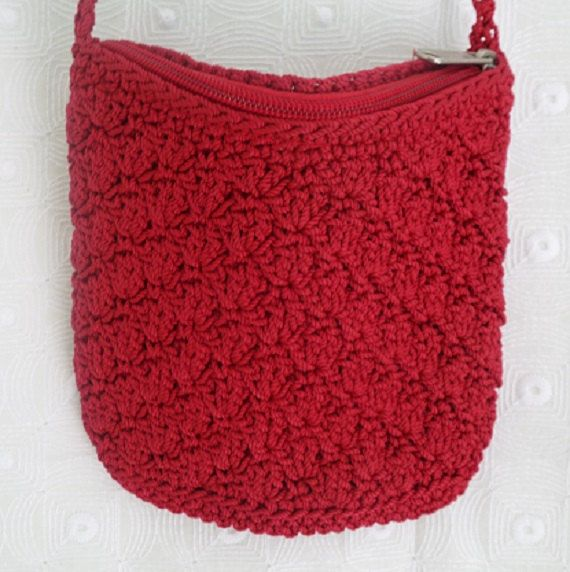 Crochet Bag Strap : Red Crochet Should Strap Purse Bag, Womens Bag, Teen Girls Bag, Crotc ...