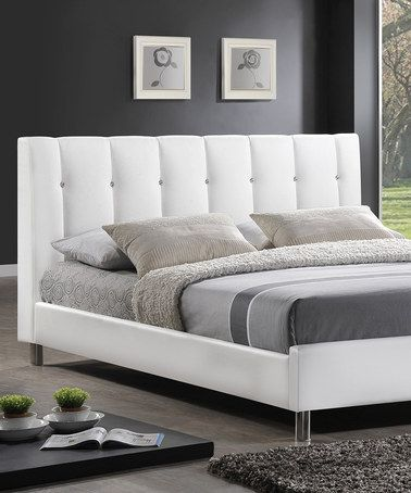 Take a look at this white vino modern queen bed frame by baxton studio