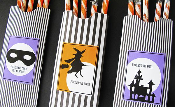 printable treat bags for Halloween -- from DesignEditor #free #download