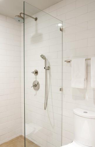 large white subway tile bathrooms pinterest. Black Bedroom Furniture Sets. Home Design Ideas