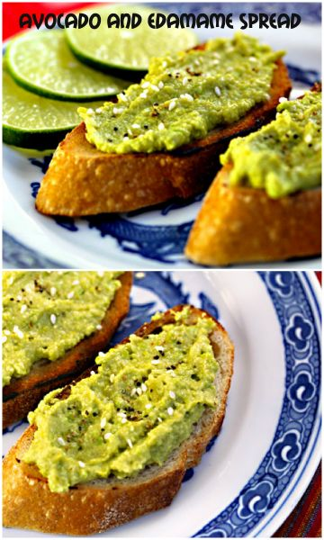Avocado And Edamame (Soy Bean) Spread On Toast Recipe ...