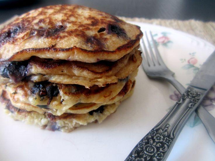 Lemon blueberry quinoa pancakes - Ambitious Kitchen