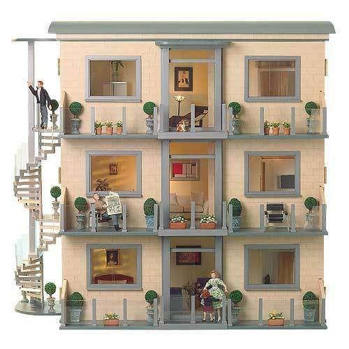 Apartment House Dollhouse Miniatures Pinterest