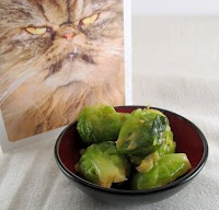 Braised Brussels Sprouts in Maple-Mustard Sauce