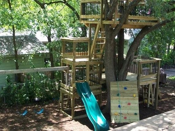 tree house fort playscape club house