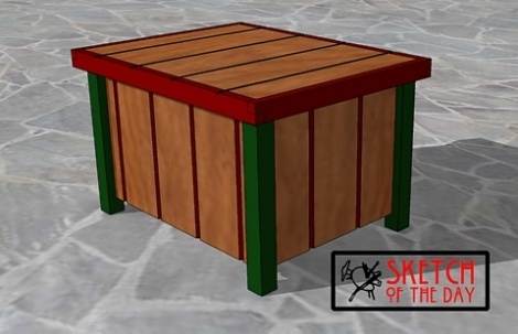 Patio Storage Coffee Table Chief 39 S Shop Sketch Of The Day Pintere