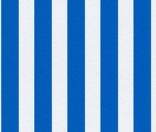 blue and white striped wallpaper patterned to perfection
