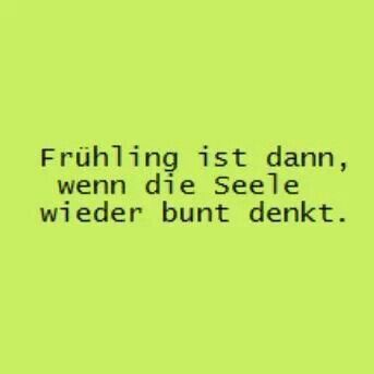 Frühling... | German Quotes/Humor | Pinterest
