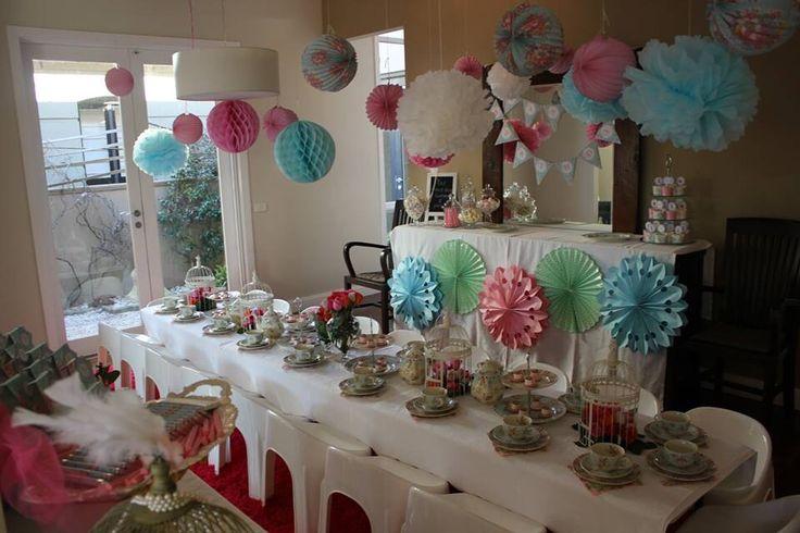 Maya's 6th tea party | Girls High Tea Birthday Party | Pinterest