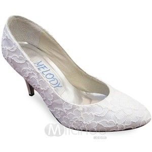Product Categories > Bridal Shoes > pointed toe > Lace Bridal shoes