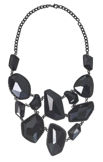 Asymmetrical Bib Necklace.