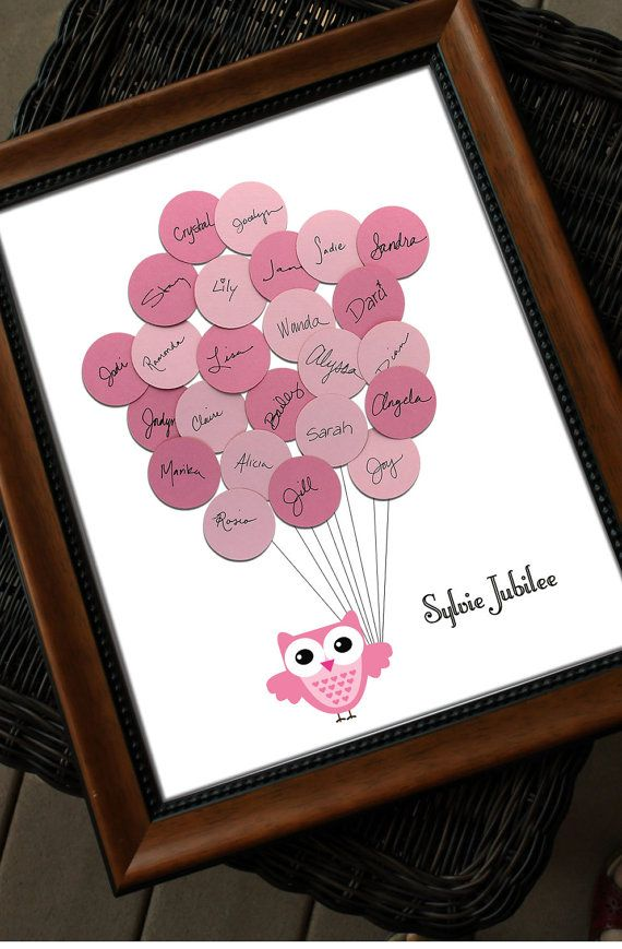 unique baby shower guest book print owl with by sayanythingdesign 39