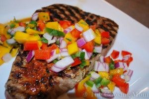 ... Tuna Steaks with Mango Salsa, Posted this for the Mango Salsa
