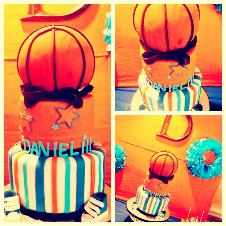 Cake Decorating Rouse Hill : Basketball baby shower cake Baby shower ideas! Pinterest