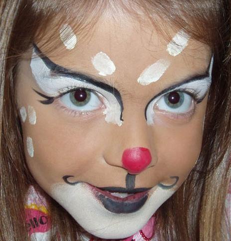Girly Rudolf | Face Painting - Christmas Ideas | Pinterest