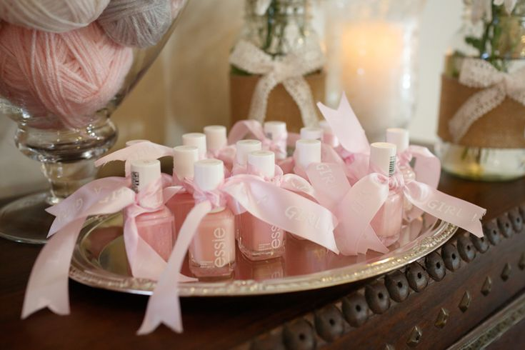 Baby Shower Favors Pink Essie Nail Polish