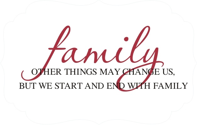 Great vinyl quote for over family photos. | Sayings