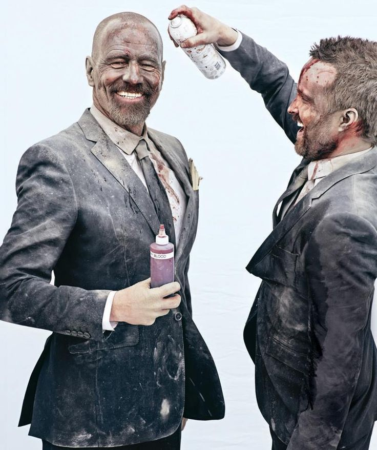 Aaron Paul and Bryan Cranston in Entertainment Weekly www