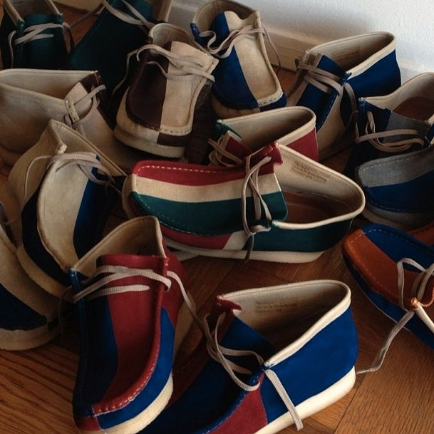 DIY Dye Clarks Wallabee Shoes | Click for more from www.TheShoeMart