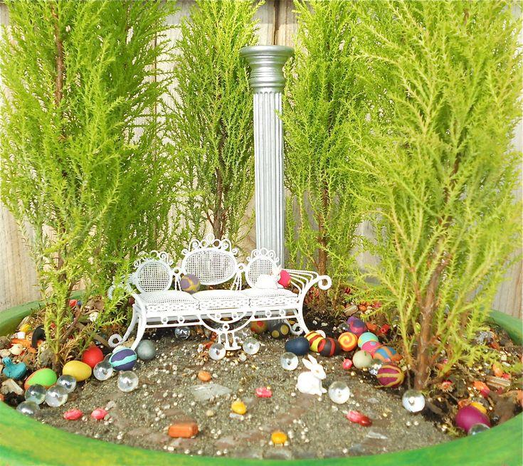 Mini Garden Ideas Photograph | miniature Easter garden | Gar