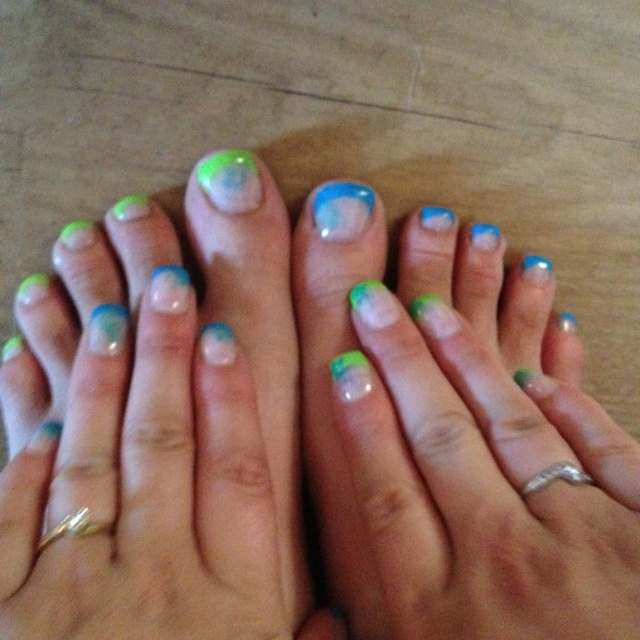 Gel toes and nails! | Nails! | Pinterest