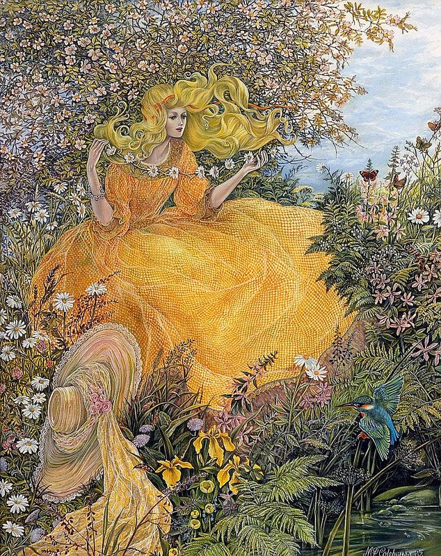 "Pamela Colebourn (British, 19/20th century), ""Summer Dream"" 