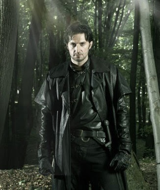 Guy of Gisborne clad in black leather