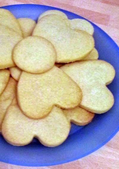 Heart-shaped Lemon Shortbread Cookies | cookies | Pinterest