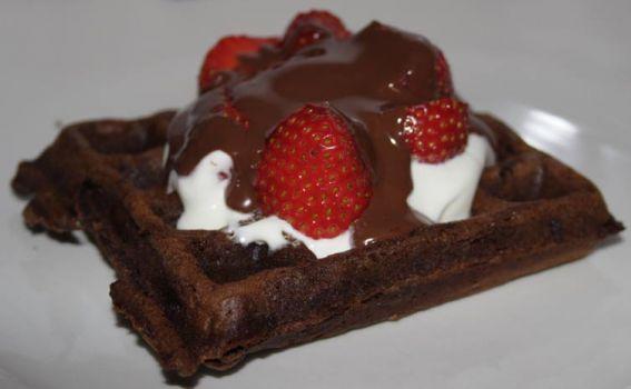 Irresistible Dark Chocolate Waffles | Eating Dessert | Pinterest