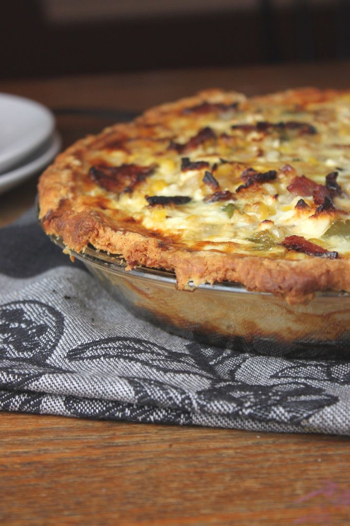 Corn and bacon pie - Accompany with a green salad, or some good ...