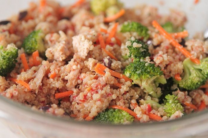 Roasted chicken quinoa salad, from Picky Palate