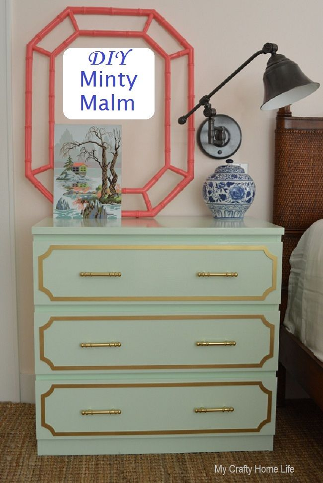 my crafty home life minty malm ikea hack want to make two of these
